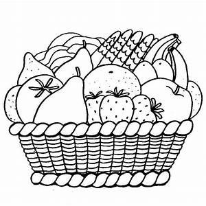 Panier A Fruit : coloriage panier de fruits a imprimer gratuit fruits et legumes pinterest panier de fruits ~ Teatrodelosmanantiales.com Idées de Décoration