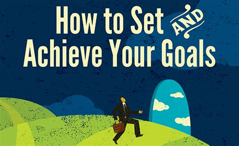 Infographic How To Set And Achieve Your Goals