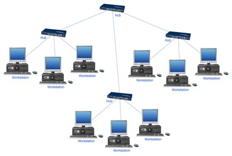 network diagram network icons