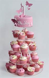 Girls 1st Birthday Cake - Cupcake Tower - Cakes For All