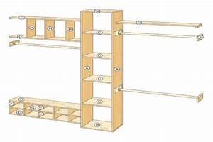 How To Build A Closet Organizer Diagram