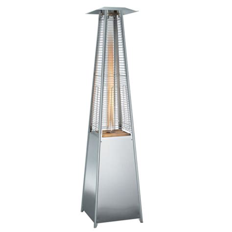 pyramid flame patio heater 13kw stainless steel uk