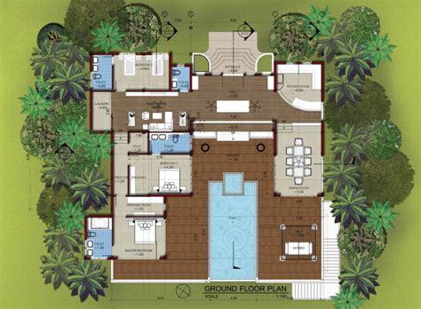 Villa Floor Plan by East Coast Pool Villa For Rent Lanta Island Property