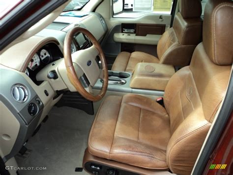 castano brown leather interior  ford  king ranch