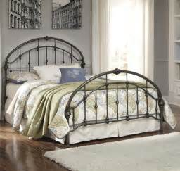 signature design by nashburg king arched metal bed in bronze color finish v