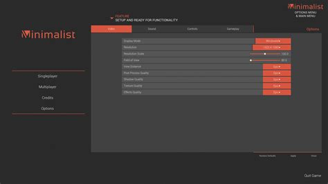 Minimalist Interface Package By Crimsonwingzz In