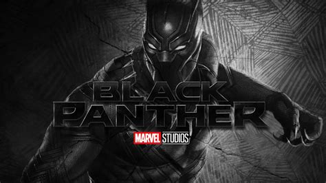 Black Panther Wallpaper With Marvel Studios Logo Hd