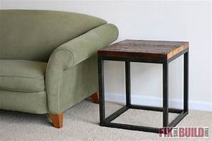 DIY Reclaimed Industrial Side Table FixThisBuildThat
