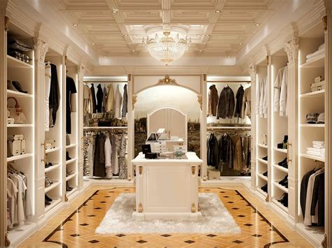 Cabinet Ideas For Kitchen - walk in closet in classic style luxurious idfdesign