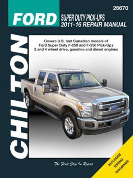 auto repair manual online 2012 ford f450 seat position control ford f 250 f 350 chilton repair manual 2011 2016 hay26670