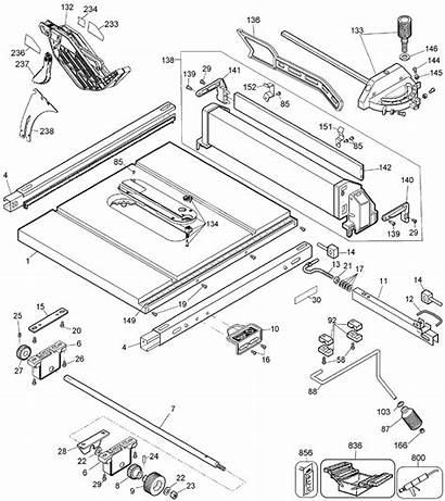Dewalt Dw744 Diagram Type Parts Saw Table