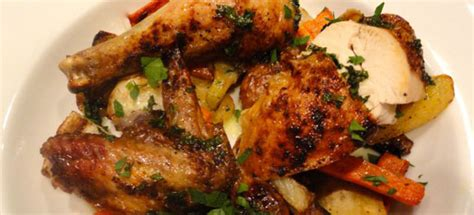 how should i cook a whole chicken simple roasted chicken with quick roasted root vegetables lindysez recipes