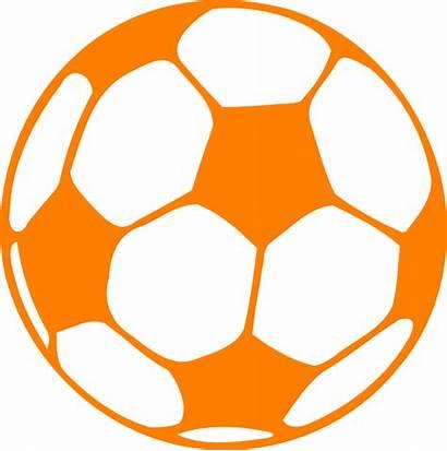 Orange Football Clip Clipart Soccer Ball Brown