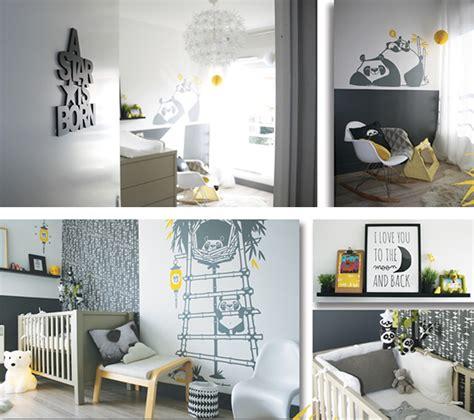 chambre panda stickers panda pour chambre enfants e glue