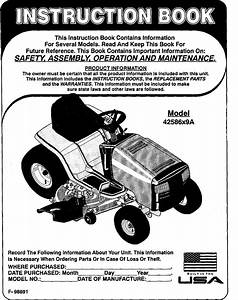 Murray 42586x9a User Manual Lawn Mower 20 0 H P  46