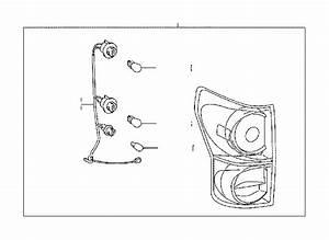 Toyota Tundra Tail Light Harness  Right  Rear   Socket And