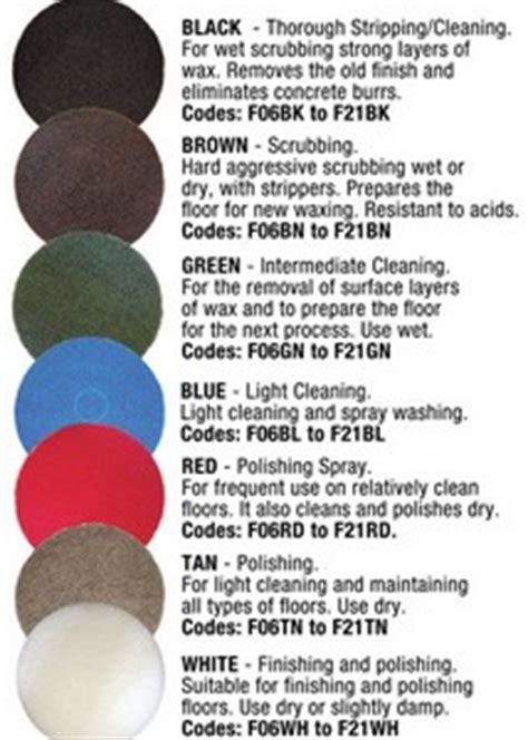 Floor Buffer Pads Color Code   Carpet Vidalondon