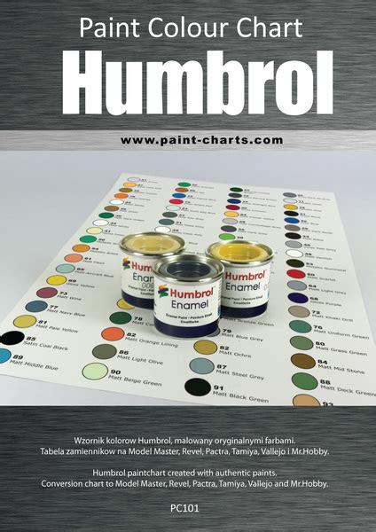 paint colour chart humbrol 12mm pjb pc101