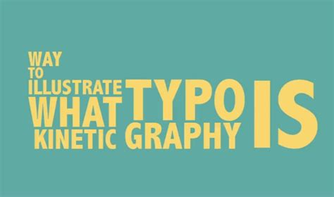 what are the uses of kinetic typography video jeeves