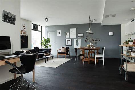 table cuisine style industriel parquet noir le carresol tendance bois décoration