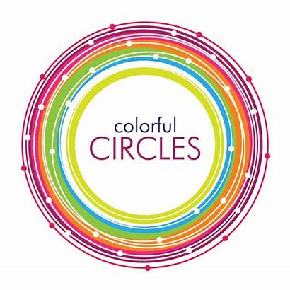 Vector Circle Graphic Circles Colorful Clipart Clip
