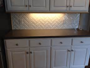 kitchen backsplash subway tile patterns primus white 3x6 quot beveled subway tile in herringbone pattern kitchen backsplash