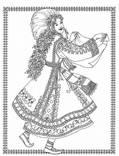 Coloring Dancers Costumes Pages Adult Books Exotic