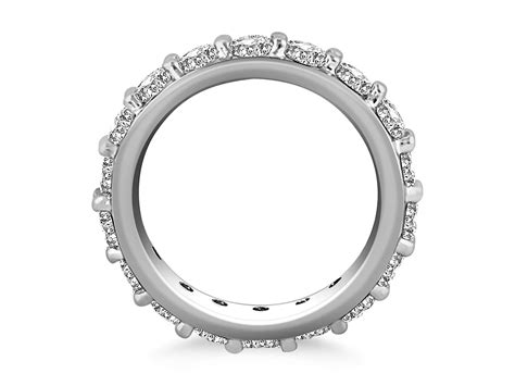 Prong Set Round Diamond Eternity Ring In 14k White Gold