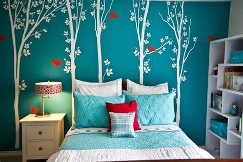 peinture chambre gar輟n ado d 233 corer les murs d une peinture turquoise 38 id 233 es d 233 t 233