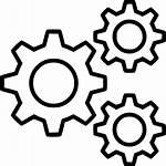 Cog Icon Gear Cogs Gears Transparent Mechanism