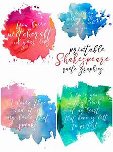 WATERCOLOR RESI... Free Prints Quotes