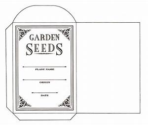 seed saving envelope to print content in a cottage With blank seed packet template