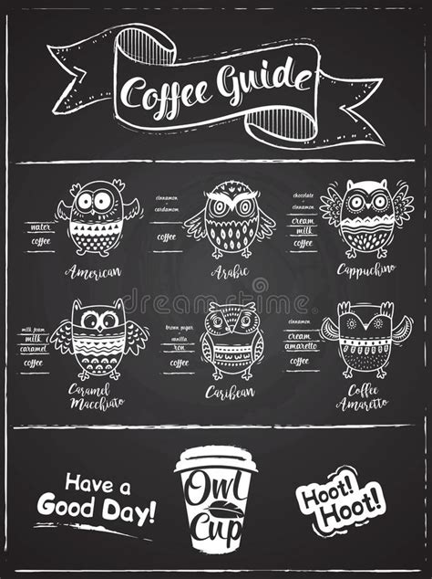Design for life is the key words for ampersand design shop. Coffee Menu Design. The Coffee Drinks Infographics, Owls ...