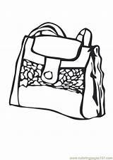 Coloring Purse Handbag Shopping Coloringpages101 Template sketch template