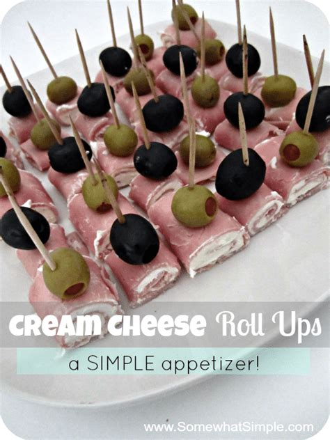 easy canapes to in advance easy appetizer cheese roll ups