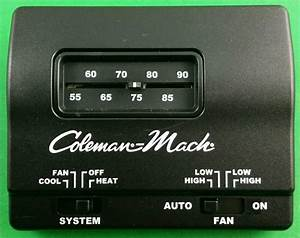 Coleman Mach Black Manual Wall Thermostat Single Stage