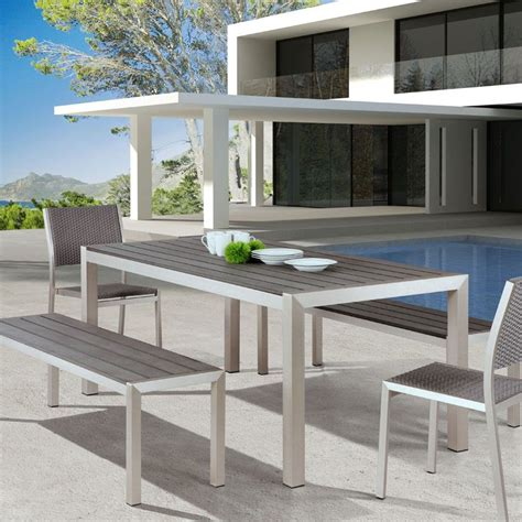 Patio Dining Sets With Bench Seating by Metropolitan Outdoor Dining Bench Eurway Outdoor Seating