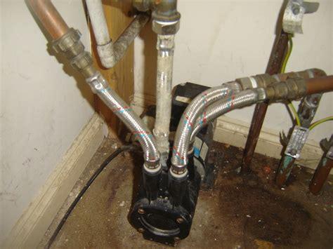 replace faulty shower pump gate valve plumbing job