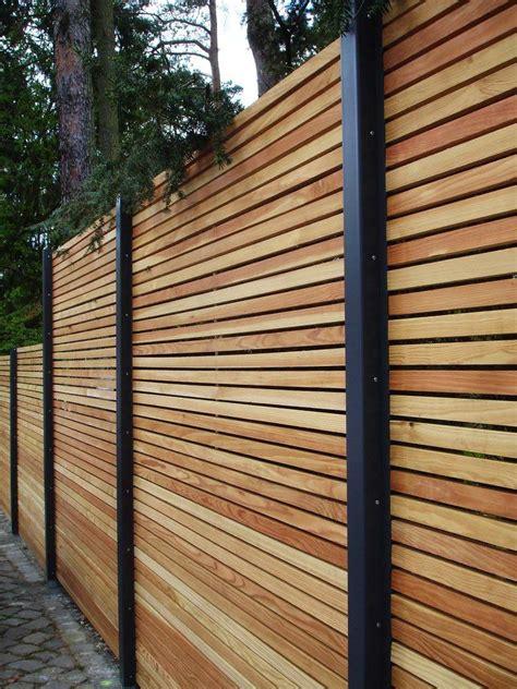 Sichtschutz Günstig by Sichtschutzzaun Holz Metall G 252 Nstig L 228 Rche H 246 He Grau Wei 223