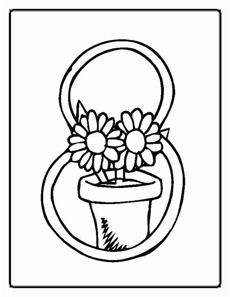 Coloring Page Flower Pot by Flower Pot Coloring Pages Coloring Home