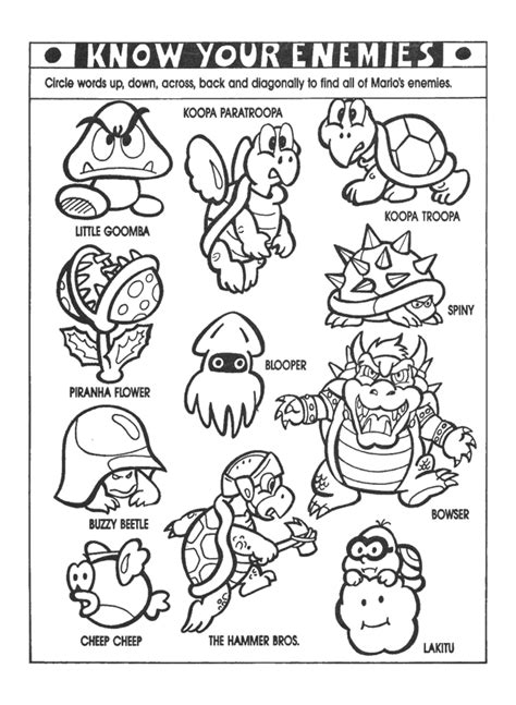 nintendo power colouring pages super mario coloring