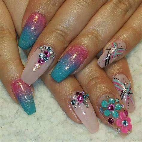 nail designs for 28 pretty bling acrylic nail designs ideas design