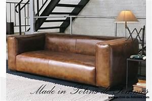 fauteuil cuir maison du monde cool fauteuil bureau cuir With tapis bébé avec canapé cuir vintage occasion
