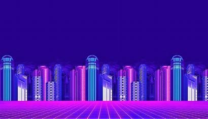 Neon Pixel Wallpapers Desktop 4k Vaporwave Purple