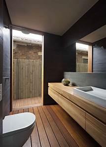 revetements et meubles salle de bain bois massif et With meuble salle de bain bois massif naturel