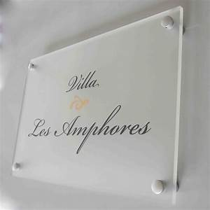 Plaque De Maison : plaque et num ro de maison en plexiglas avec fond d poli ~ Teatrodelosmanantiales.com Idées de Décoration