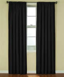 black kendall eclipse blackout curtain panel
