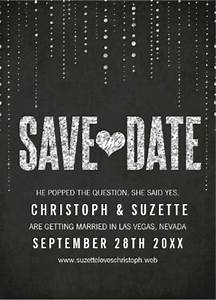 Classy shimmering sparkle save the date black and white