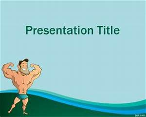 orientation powerpoint presentation template - muscle training powerpoint template