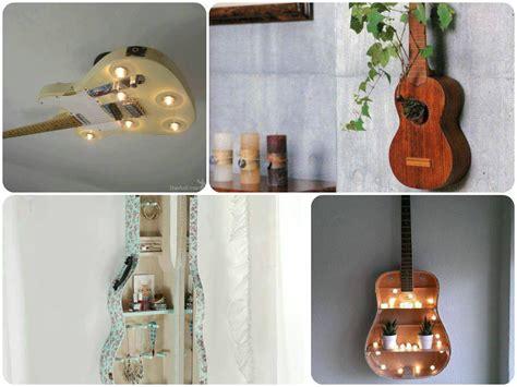 idées de décoration avec de vieux instruments de musique